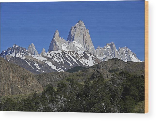 Argentina Wood Print featuring the photograph The Fitz Roy Range by Michele Burgess