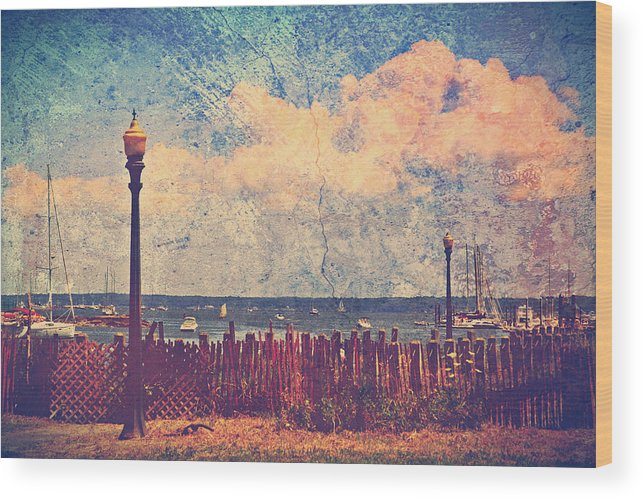 Mamaroneck Wood Print featuring the photograph The Salty Air Sea Breeze In Her Hair Iv by Aurelio Zucco