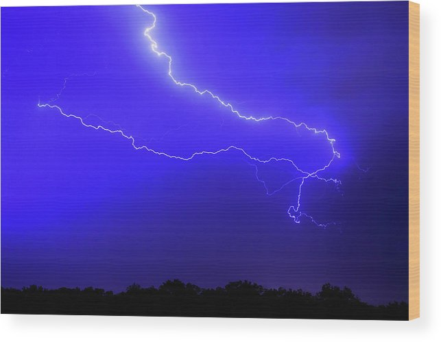 Thunderstorm Wood Print featuring the photograph Thunderstorm In The Rain by Republica