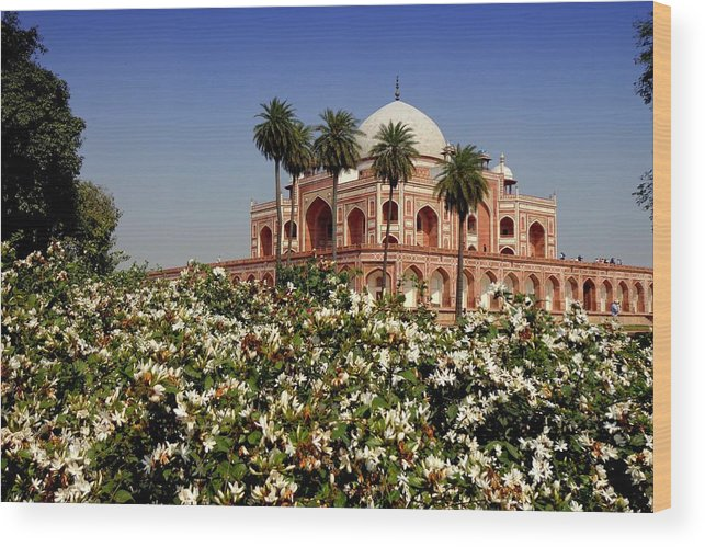 Tranquility Wood Print featuring the photograph Tomb Of Humayun by Smit Sandhir