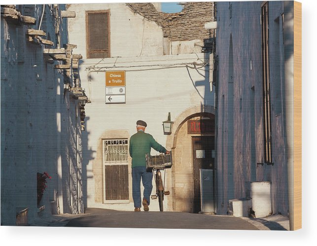 People Wood Print featuring the photograph Trulli Houses Alberobello Apulia Puglia by Peter Adams
