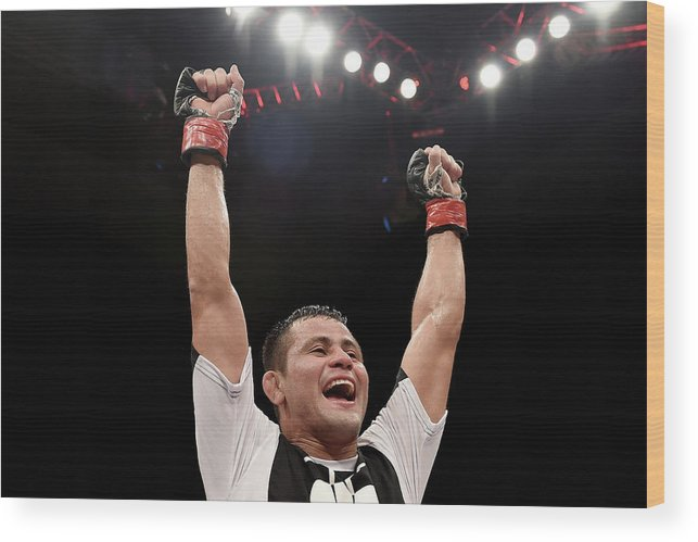 Martial Arts Wood Print featuring the photograph Ufc Fight Night Formiga V Reis by Buda Mendes/zuffa Llc