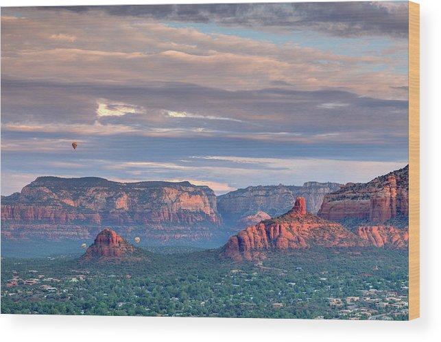 Scenics Wood Print featuring the photograph Usa, Arizona, Sedona by Michele Falzone