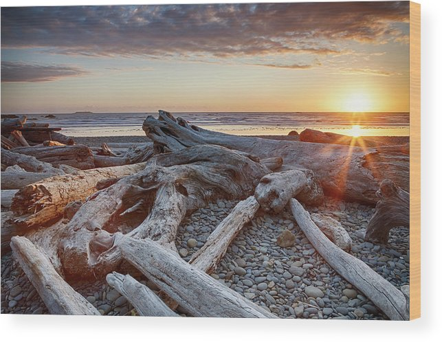 Scenics Wood Print featuring the photograph Usa, Washington State, Olympic National by Bryan Mullennix