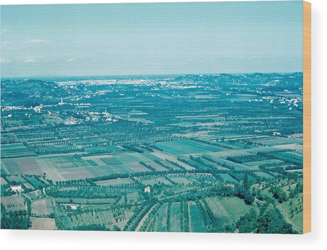 Vicenza Wood Print featuring the photograph Vicenza Italy 1962 by Cumberland Warden