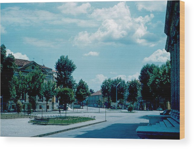 Vicenza Wood Print featuring the photograph Vicenza Italy 3 1962 by Cumberland Warden