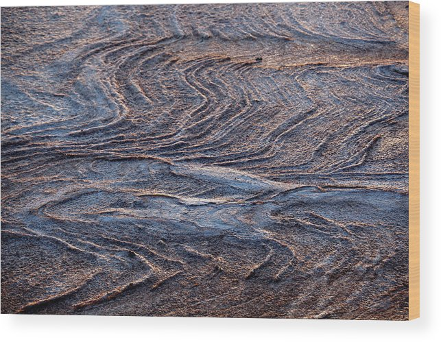 Curve Wood Print featuring the photograph View Of Landscape From Above, Port by Tobias Titz