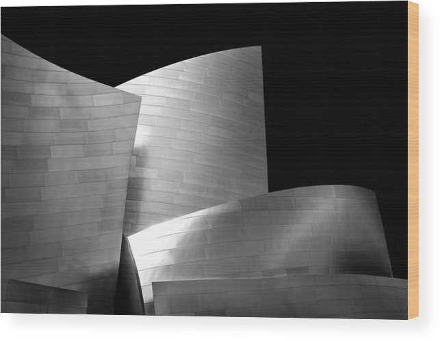 Los Angeles Wood Print featuring the photograph Walt Disney Concert Hall 1 by Az Jackson