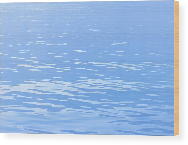 Standing Water Wood Print featuring the photograph Water Surface Background by Mmac72