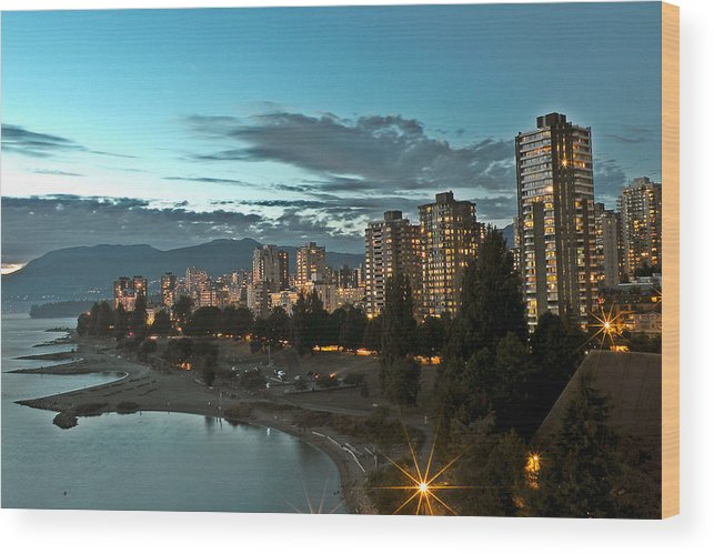 Westend Wood Print featuring the photograph Westend Vancouver by Brian Chase
