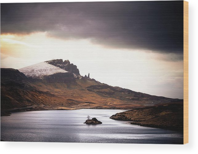 Water's Edge Wood Print featuring the photograph Wild Nature Landscape In Scotland, Isle by Zodebala