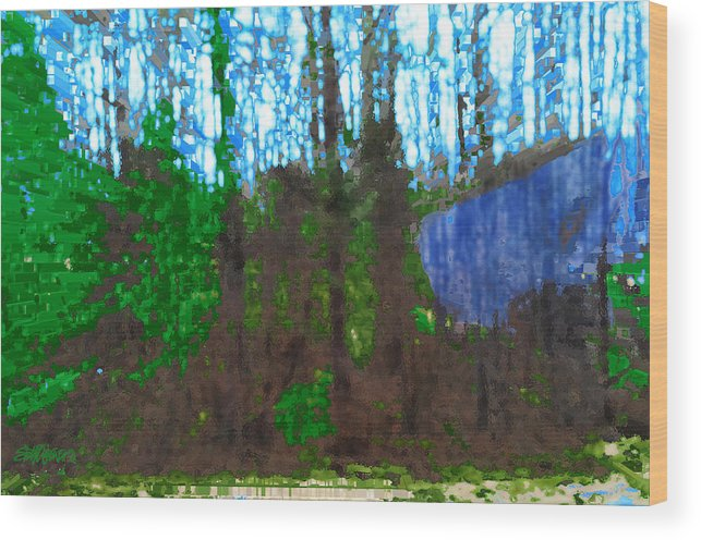 Winter Awaits Spring Wood Print featuring the photograph Winter Awaits Spring by Seth Weaver