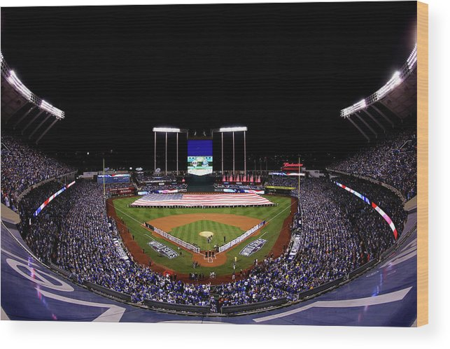 People Wood Print featuring the photograph World Series - San Francisco Giants V by Alex Trautwig