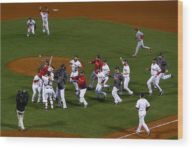 Playoffs Wood Print featuring the photograph World Series - St Louis Cardinals V by Jamie Squire