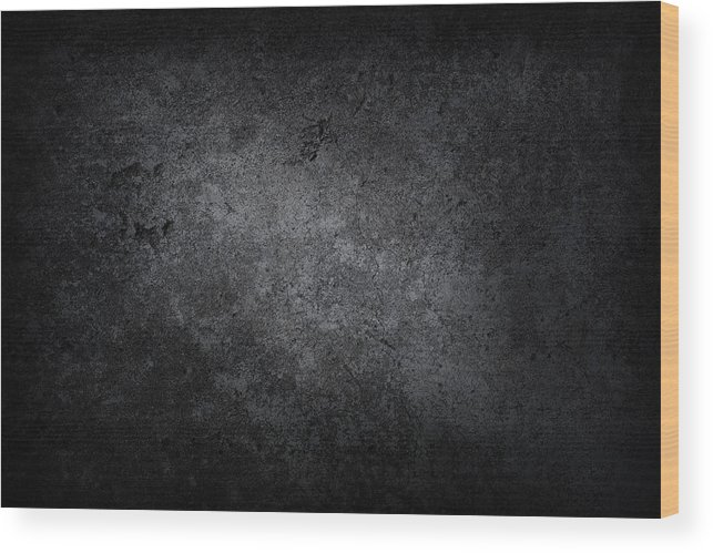 Material Wood Print featuring the photograph XXXL dark concrete by Sbayram