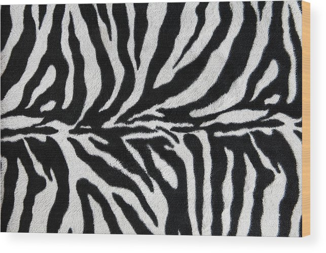 Animal Skin Wood Print featuring the photograph Zebra Textile Background by Narvikk