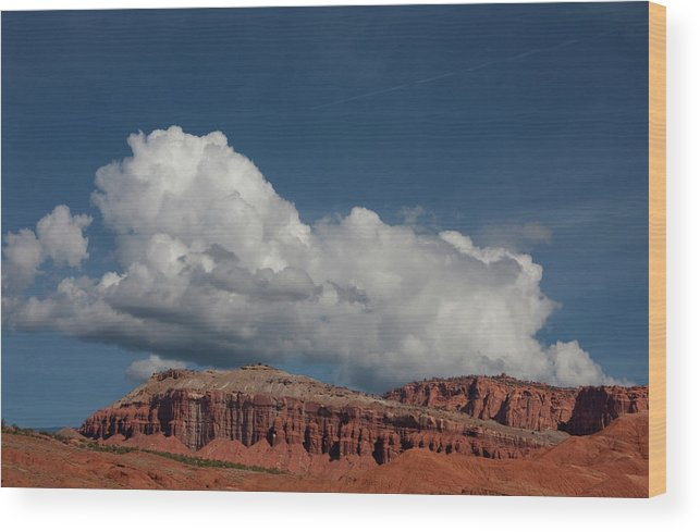 Southern Utah Wood Print featuring the photograph Capitol Reef National Park by Southern Utah Photography