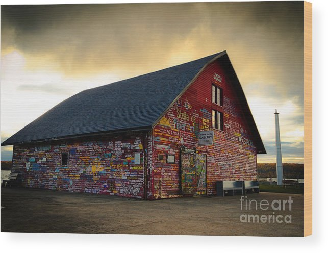 Door County Wood Print featuring the photograph Anderson Barn At Dusk by Ever-Curious Photography