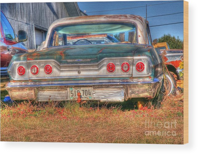 Chevy Wood Print featuring the photograph Chevy Blue by Brenda Giasson