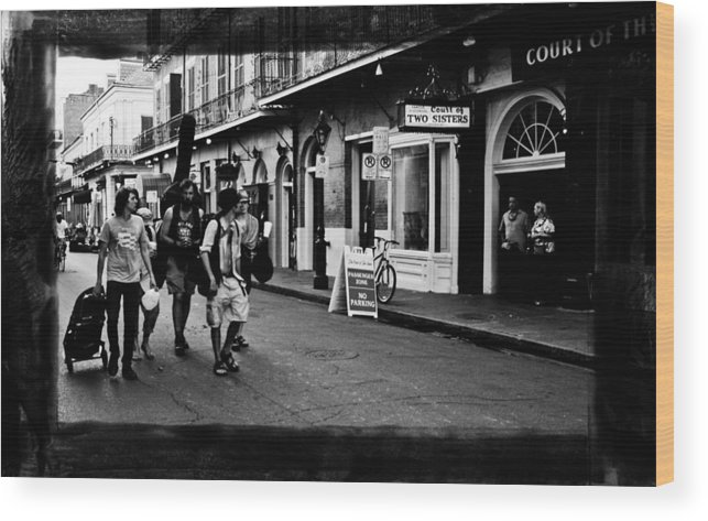 New Orleans Wood Print featuring the photograph French Quarter Commute by Linda Kish