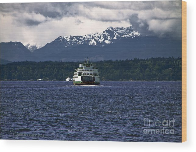 Seattle Wood Print featuring the photograph MV Kaleetan Ferry by Larry Keahey