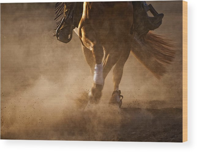Horse Wood Print featuring the photograph Reining Legs by Pamela Steege