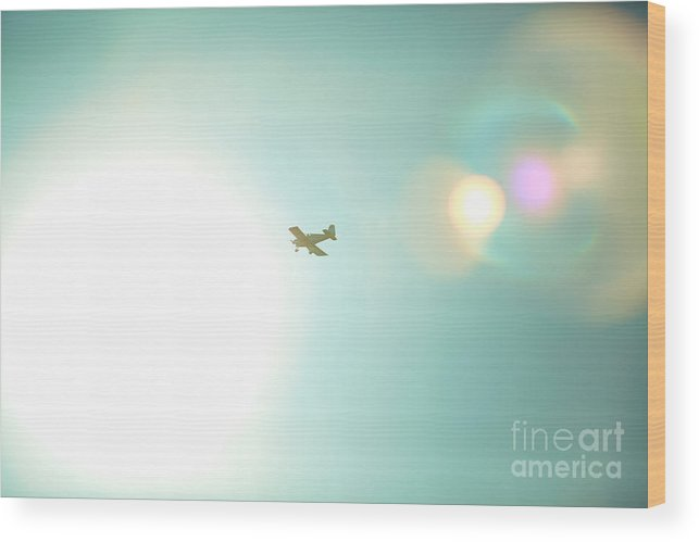 Airplane Wood Print featuring the photograph Sky High by Kim Fearheiley