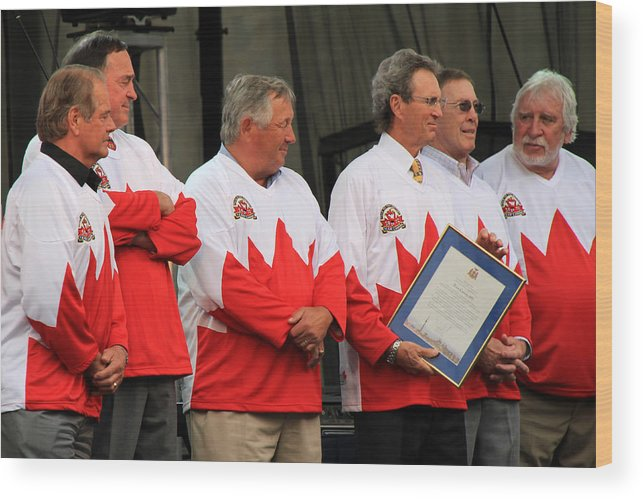 Team Canada Wood Print featuring the photograph Team Canada 1 by Andrew Fare
