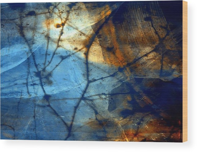 Abstract Wood Print featuring the digital art Texture 7 by Joseph Ferguson