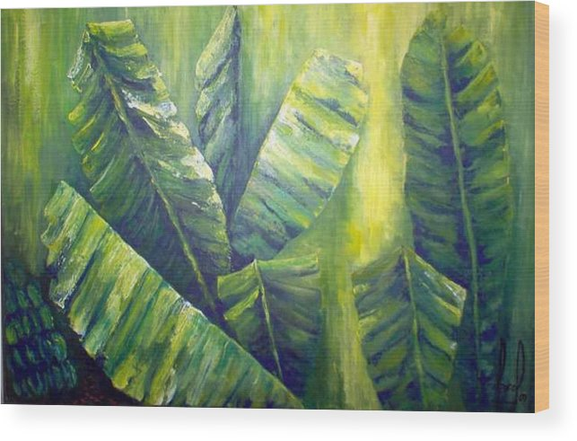 Bananas Wood Print featuring the painting Bananas by Carol P Kingsley