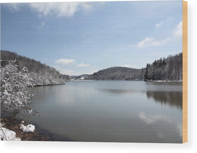 Big Ditch Lake Wood Print featuring the photograph Big Ditch Lake by Carolyn Postelwait