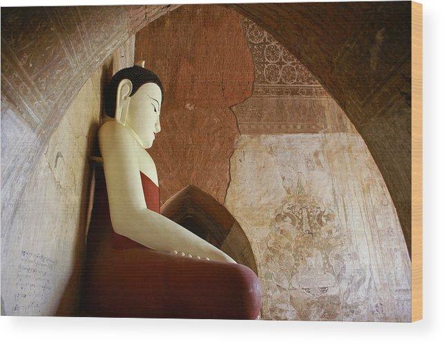 Buddha Wood Print featuring the photograph Geometric Buddha by Michele Burgess