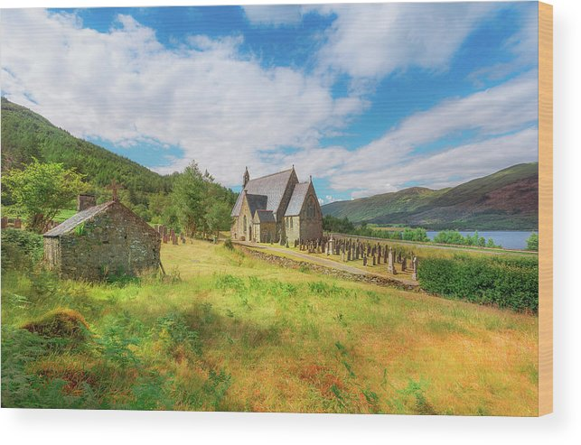 Ballichulish Church Wood Print featuring the photograph The Old Highland Church by Roy McPeak