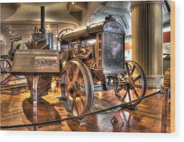 Wood Print featuring the photograph 1917 Model 1 Fordson Tractor Dearborn MI by Nicholas Grunas