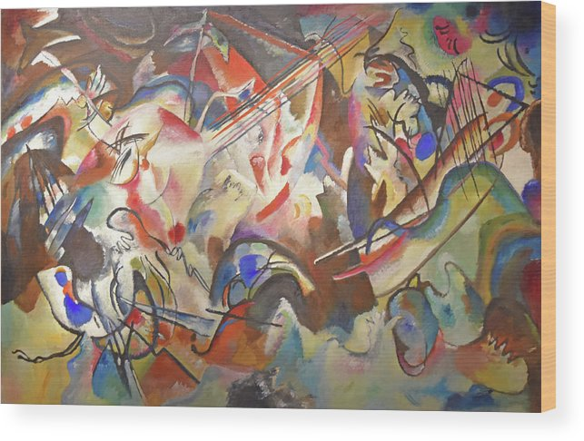 Wassily Kandinsky Wood Print featuring the painting Composition VI by Wassily Kandinsky