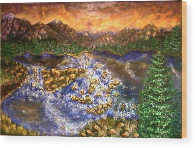 Lake Wood Print featuring the painting Lake Succession by Tanna Lee M Wells