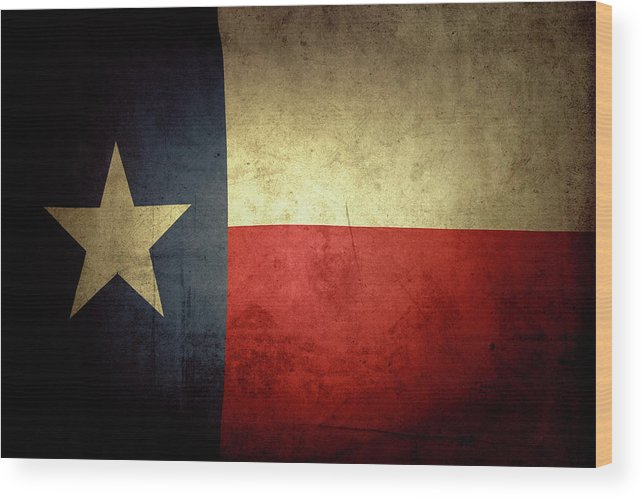Flag Wood Print featuring the photograph Texas flag by Les Cunliffe