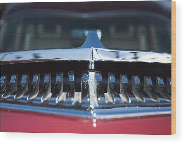 Auto Wood Print featuring the photograph A Toothy Grin by Richard Henne