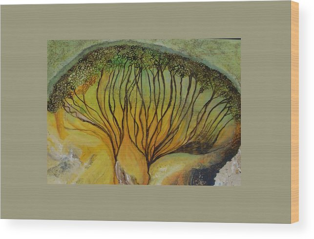 Wood Print featuring the painting AA dream by Carol P Kingsley
