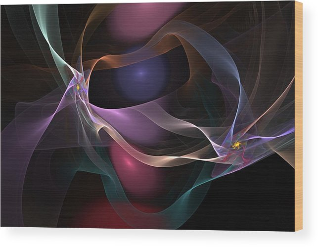 Fine Art Wood Print featuring the digital art Abstract 062310 by David Lane