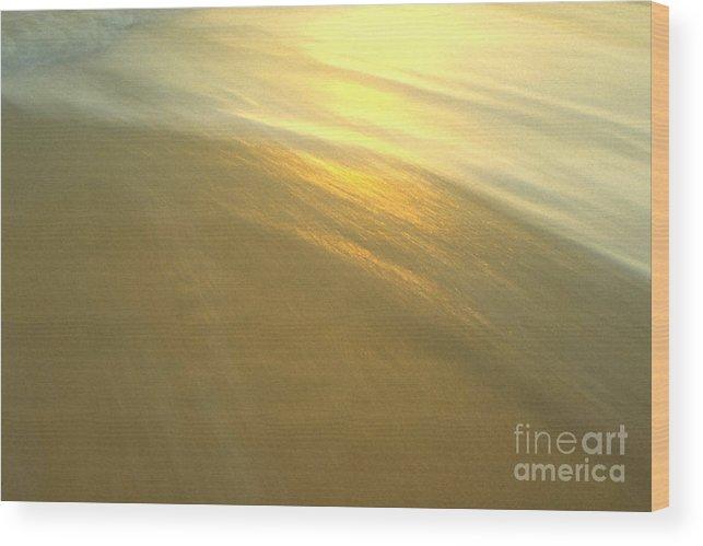 Beach Wood Print featuring the photograph Abstract Beach by Sven Brogren
