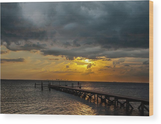 Sunset Wood Print featuring the photograph Afternoon Delight by Norman Johnson