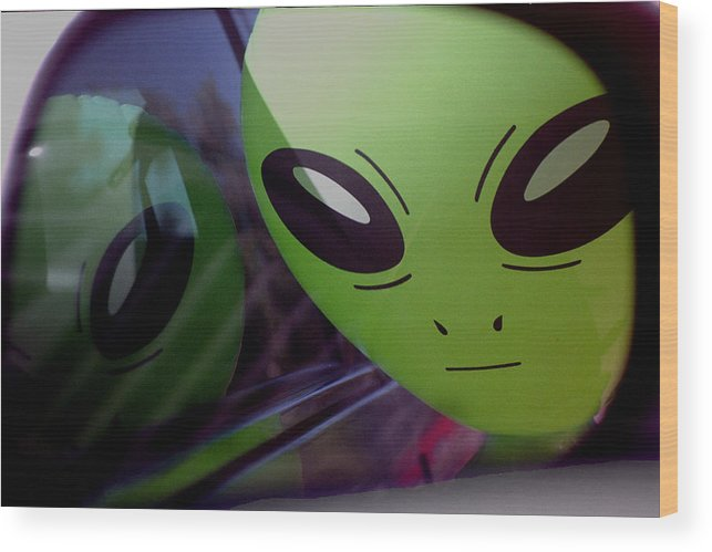 Alien Wood Print featuring the photograph Alien Is Closer Than He Appears by Richard Henne