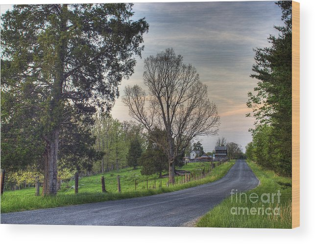 Virginia Wood Print featuring the photograph Almost Home by Pete Hellmann