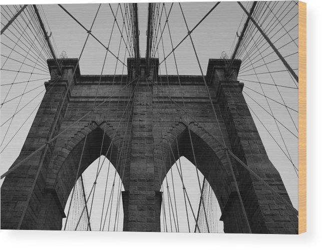 Brookyln Bridge Wood Print featuring the photograph Angles of Brooklyn by Joshua Francia