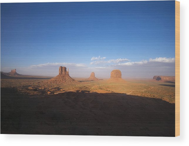 Monument Valley Wood Print featuring the photograph As Evening Falls by Richard Henne