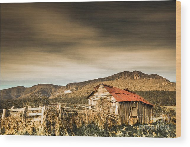 Barn Wood Print featuring the photograph Beauty In Rural Dilapidation by Jorgo Photography - Wall Art Gallery