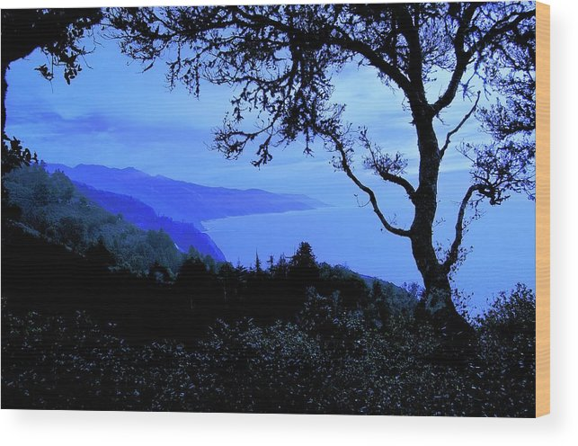 Nature Wood Print featuring the photograph Big Sur Blue, California by Zayne Diamond Photographic