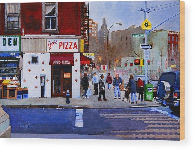 Bleecker Street Wood Print featuring the painting Bleecker Street by John Tartaglione
