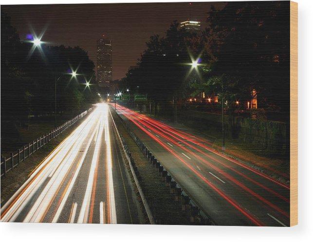 Boston Wood Print featuring the photograph Boston Highway by Jason Hochman